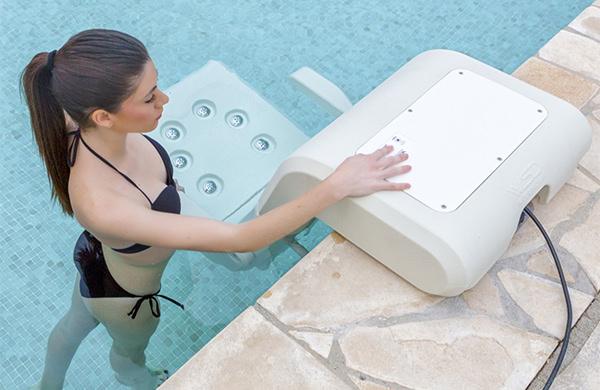 Sill n hidromasaje para piscina water spa divan piscinas for Sillas para water