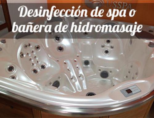 Desinfección de spa o bañera de hidromasaje